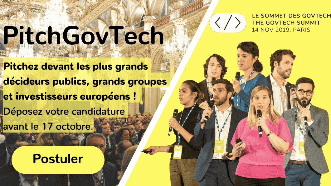PitchGovTech ; Pitchez au GovTech Summit